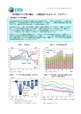 伸び悩むアジア向け輸出 ~主要品目にみるケース