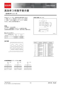 LB-603 FPシリーズ:高効率3桁数字表示器