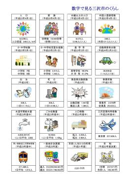 数字で見る三沢市のくらし [457KB pdfファイル]