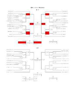 愛知トーナメント組み合わせ 男 子 女子