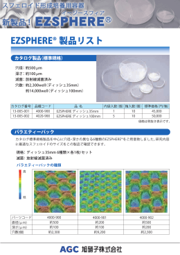 EZSPHERE® 製品リスト