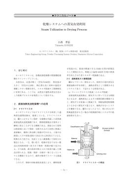 乾燥システムへの蒸気有効利用