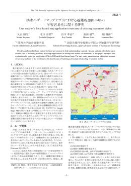 洪水ハザードマップアプリにおける避難所選択手順の 学習容易性
