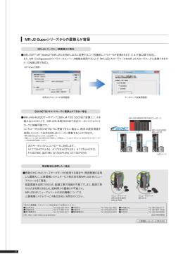MR-J2-Superシリーズからの置換えが容易 三 置