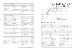 出品作品リスト List of exhibited works