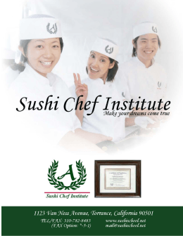 Output file - Sushi Chef Institute