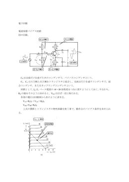 電子回路 電流帰還バイアス回路 図の回路。 CE は交流だけを流すため