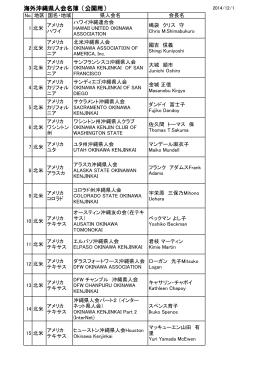 海外沖縄県人会名簿(公開用)