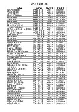 CD録音図書リスト