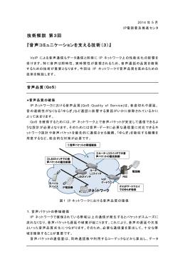 音声コミュニケーションを支える技術(3)