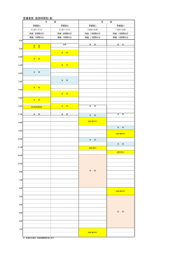 警備業務 勤務時間割(案)