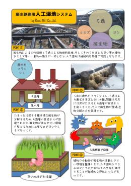廃水処理用人工湿地システム by Reed NET Co,.Ltd.