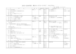 2013~2014年度 寒川ロータリークラブ プログラム