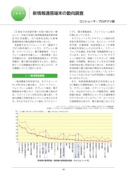 新情報通信端末の動向調査-コンシューマ・プロダクツ部