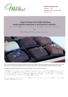 Organic Nougat and Truffle Selections Hand