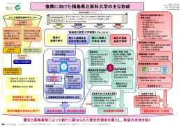 「復興に向けた福島県立医科大学の主な取組」を更新しました。〔PDF
