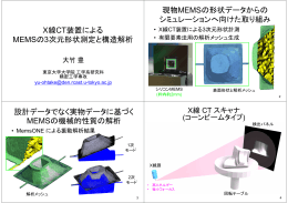 X線CT装置による MEMSの3次元形状測定と構造解析 現物MEMSの