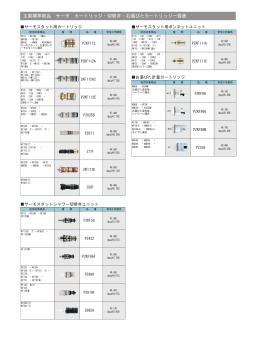 切替弁対応機種一覧表(PDF:2.7MB)