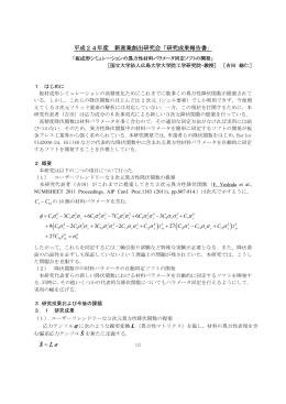 研究成果報告書 ϕ σ σ σ σ σ σ σ σ σ σ σ σ σ σ σ σ σ σ σ