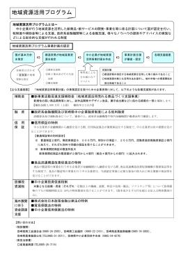 地域産業資源活用事業について(PDF:114KB)