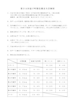 第34回益子町駅伝競走大会細則