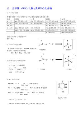 13 分子性ハロゲン化物と貴ガスの化合物 - -