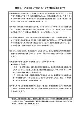 H24繁殖期の状況(PDF)