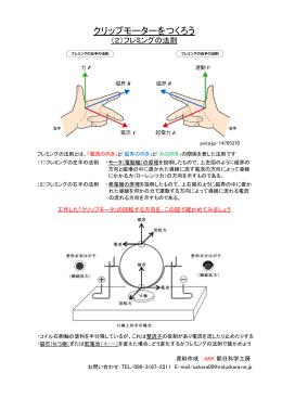クリップモーターを作ろう(フレミングの法則)