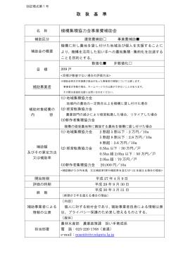 機構集積協力金事業費補助金取扱基準(PDF:62KB)