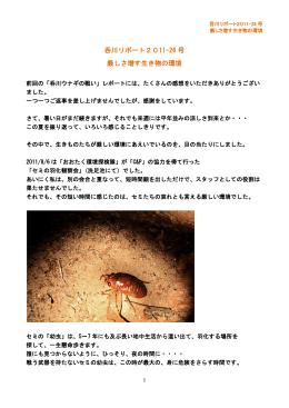 呑川リポート2011-26 号 厳しさ増す生き物の環境