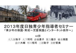 2013年度日本代表団の研修成果