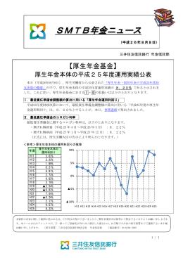 厚生年金本体の平成25年度運用実績公表