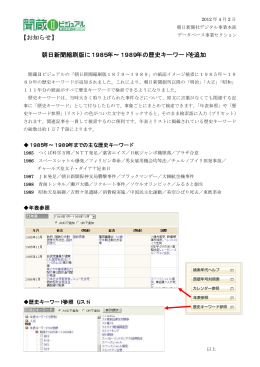 歴史キーワード - 朝日新聞デジタル