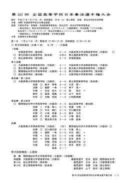 第 60 回 全国高等学校日本拳法選手権大会