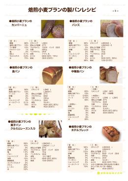 焙煎小麦ブランの製パンレシピ