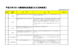 平成26年度介護報酬改定関連Q&A【宮崎県版】(PDF:121KB)
