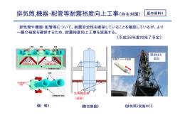 排気筒,機器・配管等耐震裕度向上工事(自主対策)
