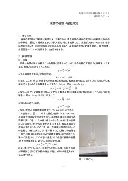液体の密度・粘度測定