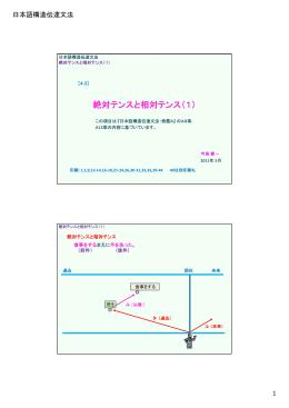 絶対テンスと相対テンス(1)