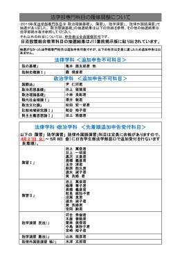 【日吉法学部】法学部専門科目の履修調整について