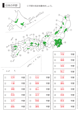 日本の平野