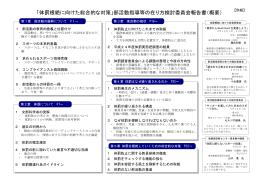 部活動指導等の在り方検討委員会報告書(概要)