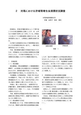 2 対馬における肝蛭等寄生虫浸潤状況調査