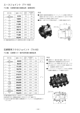 エースジョイント(TY-100) 石綿管用フクロジョイント(TA-60)