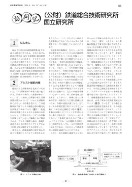 (公財)鉄道総合技術研究所 国立研究所