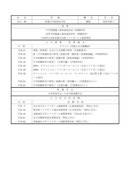 氏 名 所 属 職 名 学 位 水谷 博 短期大学部体育学科 教授