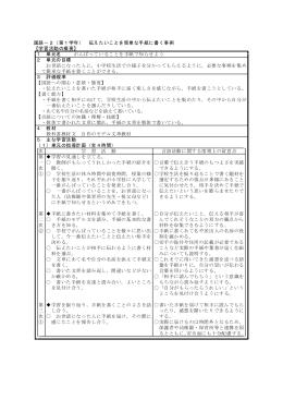 国語-2(第1学年) 伝えたいことを簡単な手紙に書く事例 【学習活動の