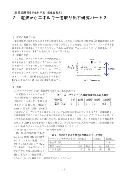 2 電波からエネルギーを取り出す研究パート2