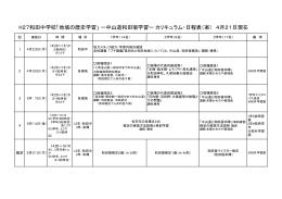 H27和田中学校「地域の歴史学習」 ー中山道和田宿学習ー カリキュラム