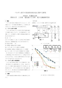 ペルチェ素子の高効率冷却方法に関する研究 083035 佐藤